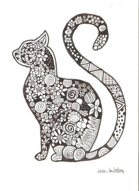 cat tattoo gatos mandala mandalas animales  dibujos de