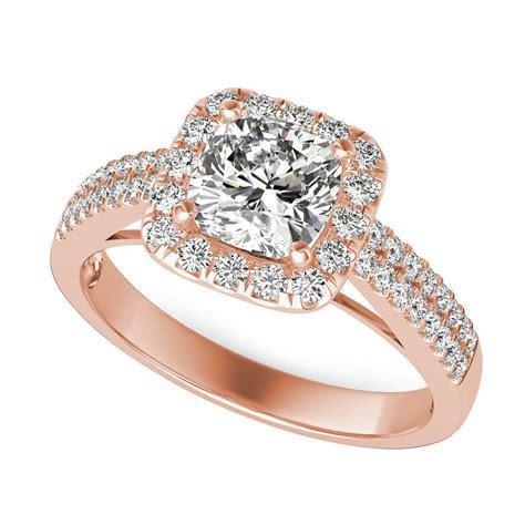 Halo Double Band Diamond Engagement Ring   SKU: CU0615