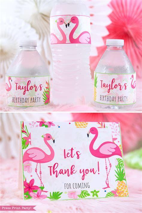 Flamingo Party Printable Bundle (Let's Flamingle)   Press