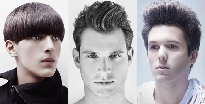 Masculinas rosto oval Forma Penteado Exemplos