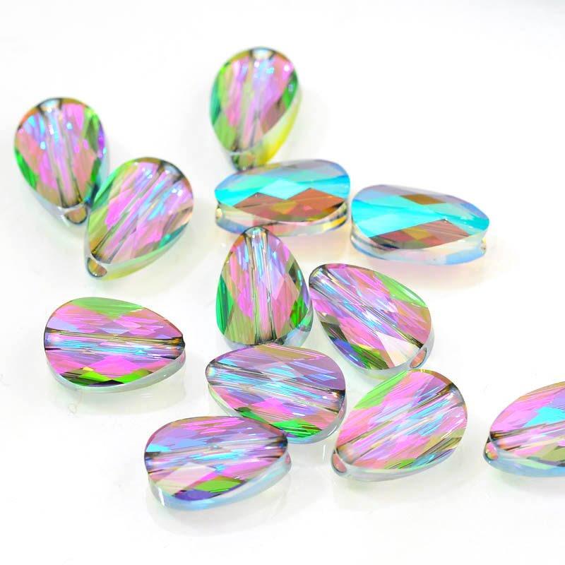 27750560060007 Swarovski Bead - 8 x 12 mm Mini-Drop(5056) - Crystal Paradise Shine (1)