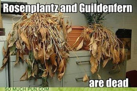 Rosenplantz and Guildenfern. Literary humor.