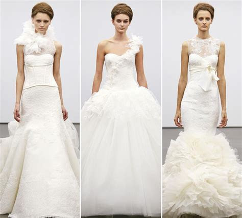 Vera Wang goes back to basics with ceremonious ivory gowns