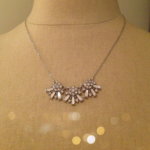 The perfect bit of holiday #sparkle. Starburst fan necklace from #BananaRepublic.