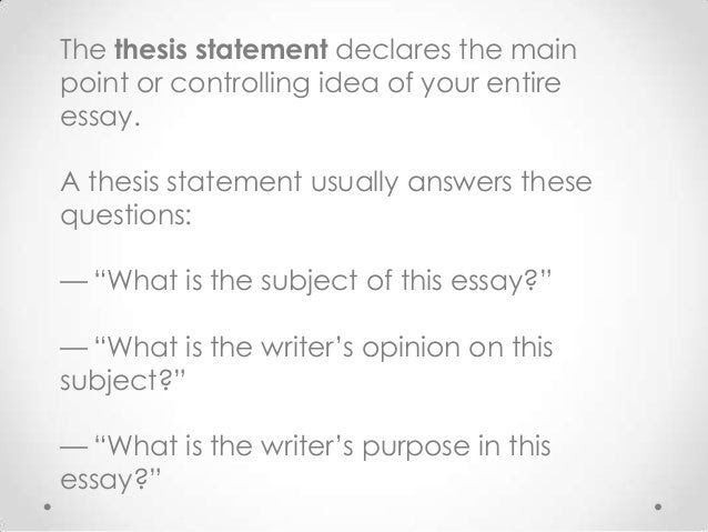 writing a thesis statement for history essay