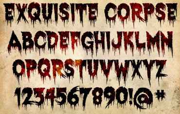 Exquisite Corpse Font