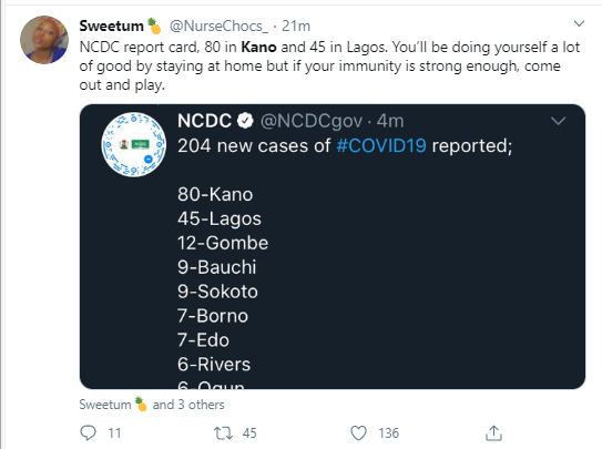 Nigerians react to news of Kano State recording 80 new cases of Coronavirus in one day