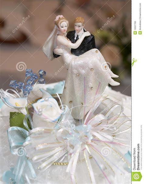 Wedding Cake Top Figurines stock image. Image of bake
