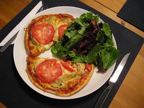 Pizza sur pain Naan
