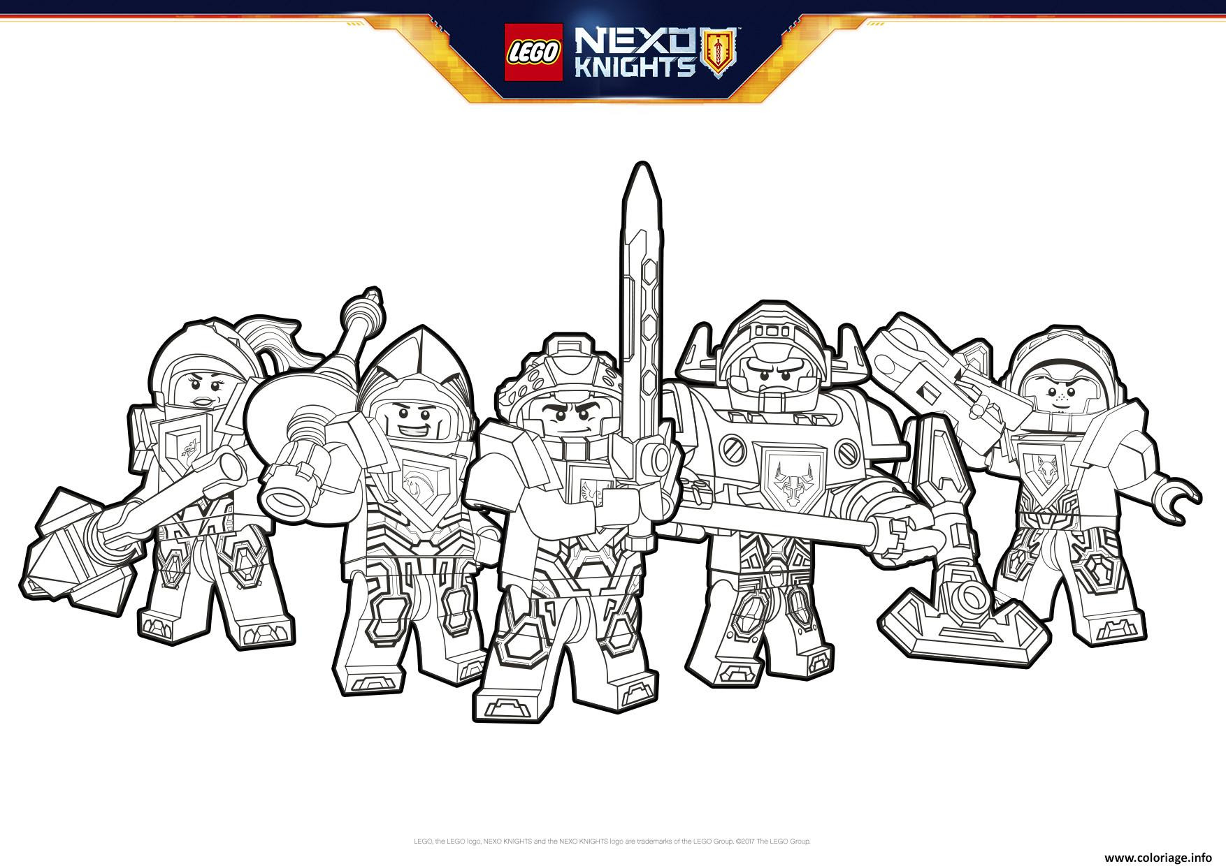 Coloriage Lego Nexo Knights Formation Dessin   Imprimer