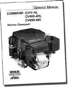 Genuine Kohler Small Engine Repair Manual 4 16HP Models