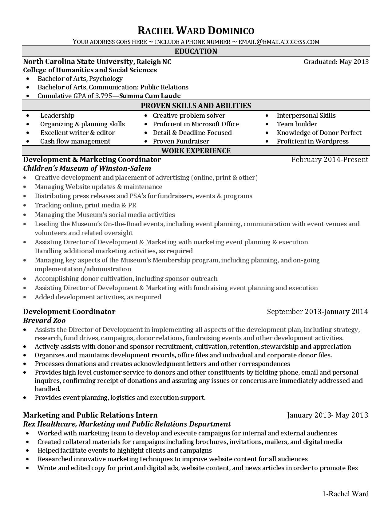 Incomplete Degree On Resume  Talktomartyb