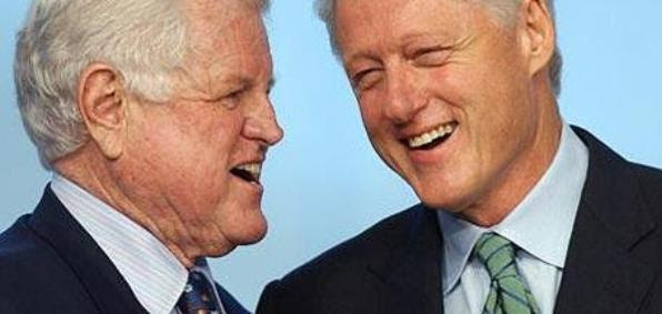 Bill Clinton, right, signed the 1993 Religious Freedom Restoration Act and Sen. Ted Kennedy helped introduce it.