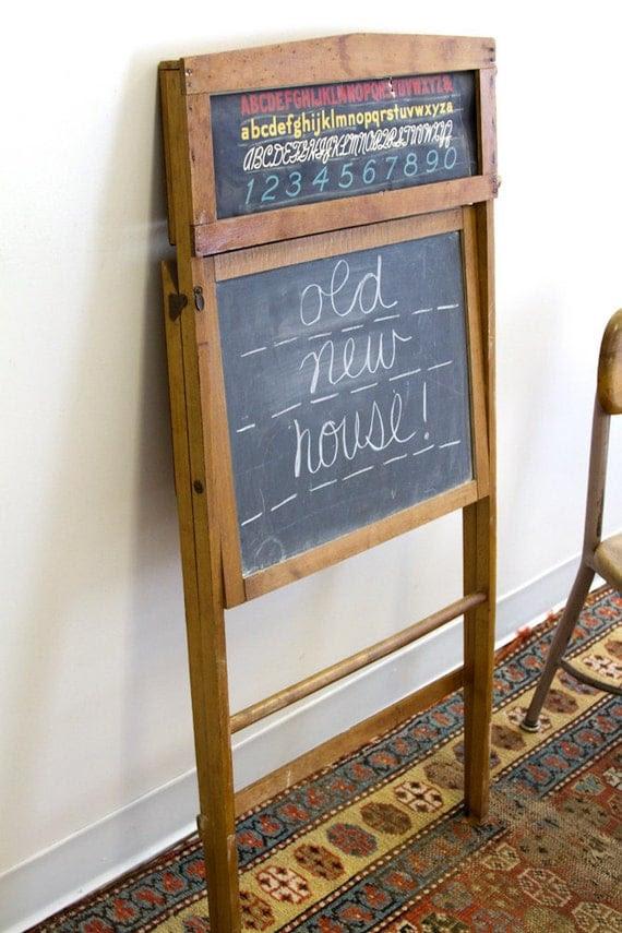 Slate Chalkboard Easel with Paper Scroll