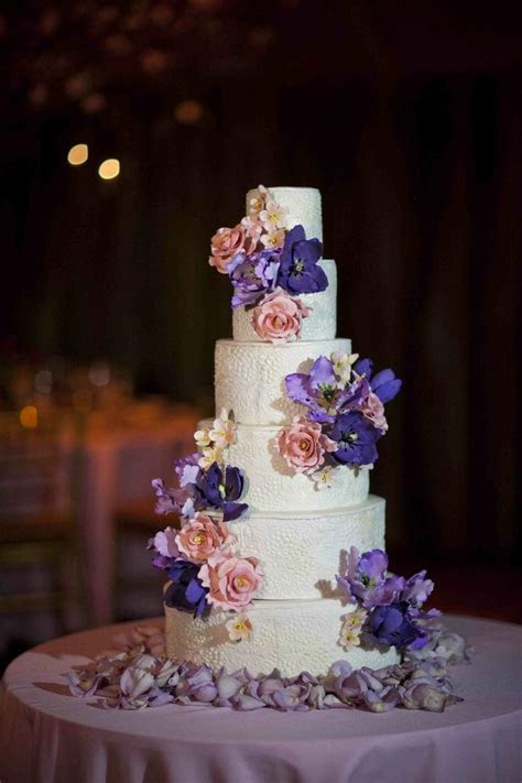 Cakes   Desserts Photos   Textured Wedding Cake with