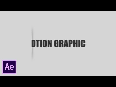 After Effects Tutorial: Cut Out Flat Motion GraphicText Effect (No Plugin)