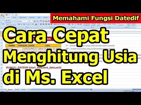 Cara Mudah Menghitung Usia di Microsoft Excel