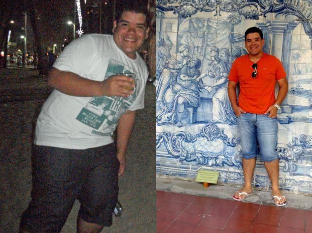 O susto fez o estudante mudar os hábitos de vida e emagrecer 31 kg (Foto: Arquivo pessoal)