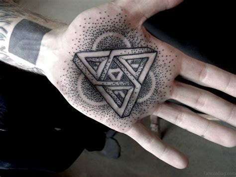 outstanding geometric tattoos hand
