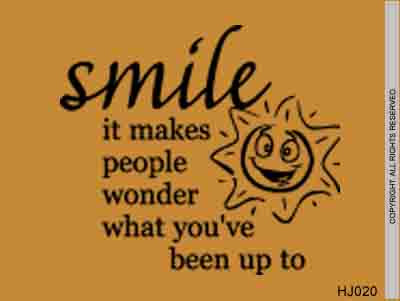 Smile It Makes People Wonder What Youve Been Up To Hj020 Mvd