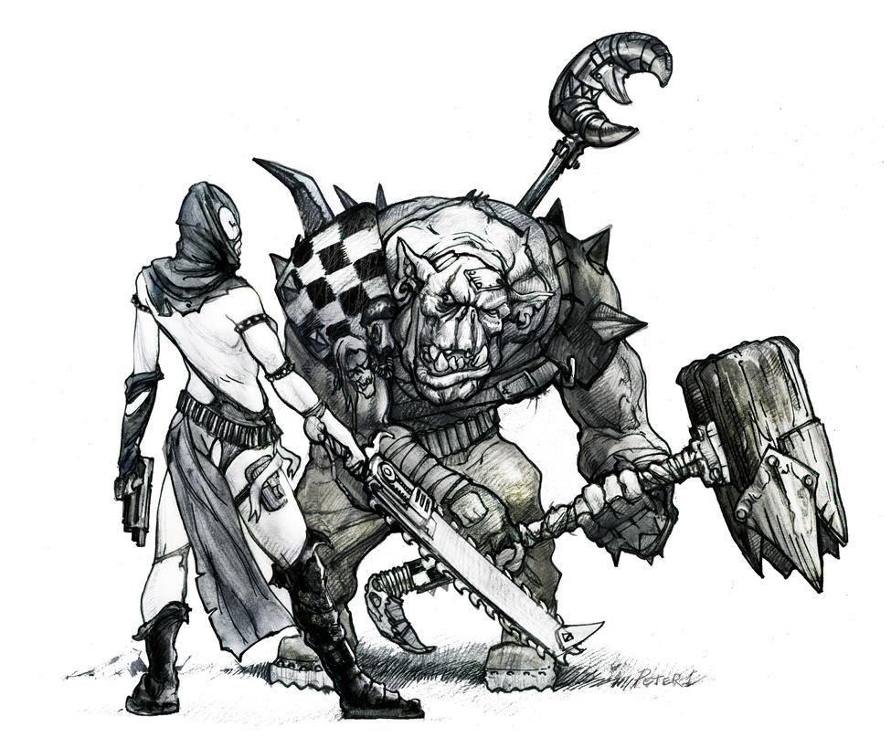 Warhammer 40k Sister vs Nob by Peter1punk