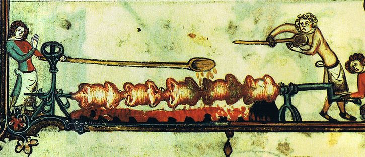 asando carne edad media