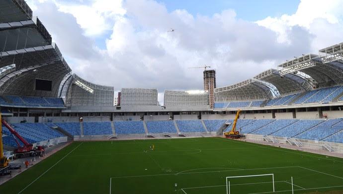 Arena das Dunas, em Natal - 31 de dezembro de 2013 (Foto: Jocaff Souza)