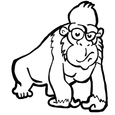 alphabet coloring sheets: Step Finished Gorillas Draw ...