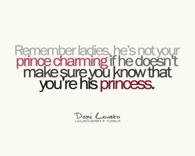 Demi Lovato Quote About Princess Prince Charming Love Ladies