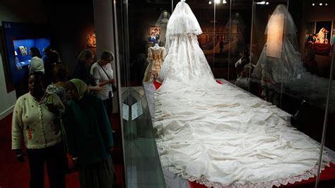 Sneak peek of Princess Diana's wedding dress ahead of
