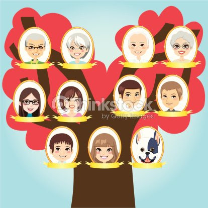 Big De árbol Familiar Arte Vectorial Thinkstock