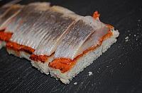 Kanape-uri rusesti cu hering marinat - Pas 7