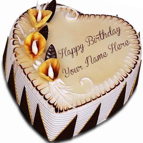 Birthday Cake With Name Generator Heart Shape
