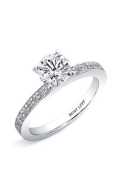 Bony Levy Channel Set Diamond Engagement Ring Setting