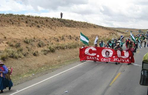 marcha movimientos sociales rumbo a La Paz