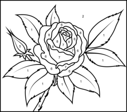 rose coloring page printables apps for kids