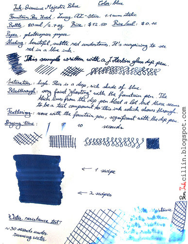 Diamine Majestic Blue