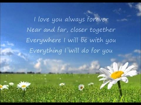 Donna Lewis Lyrics I Love You Always Forever