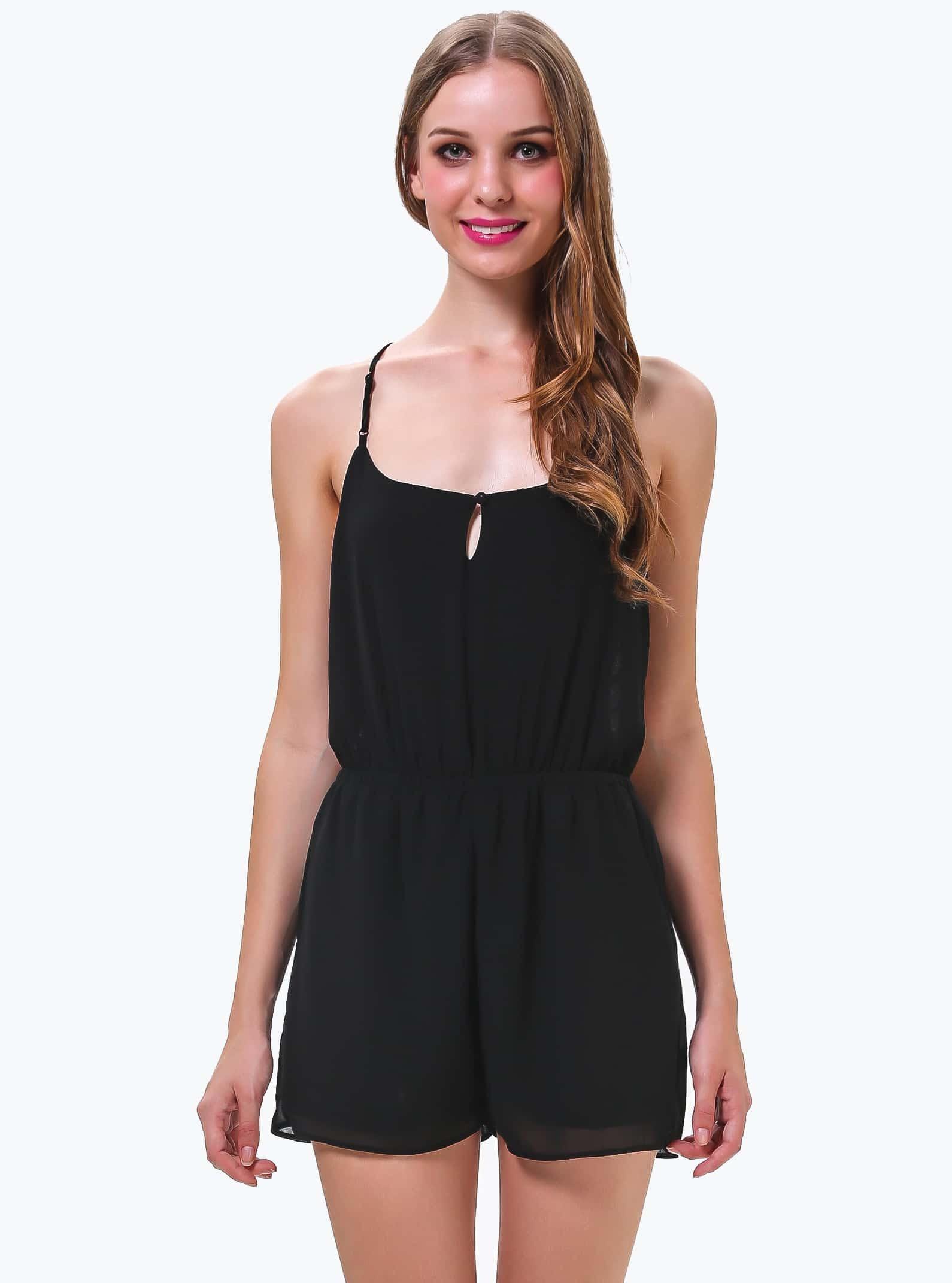 Los spaghetti strap backless plain sleeveless jumpsuits online