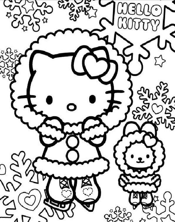 Coloriage Hello Kitty 5 Momesnet