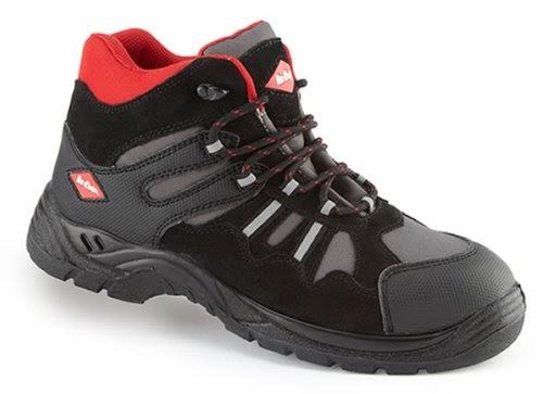Stiefel Frauen schwarz 9,5 cm und Mini Plateausohle von 1,5 cm ChaussMoi