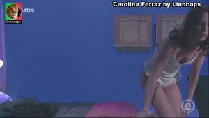 Carolina Ferraz nua na novela O Astro