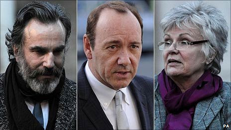 Daniel Day Lewis, Kevin Spacey and Julie Walters