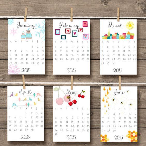 PRINTABLE 2017 calendar 2017 Wall calendar Desk calendar 2017 ...