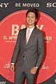 ansel elgort is supported by girlfriend eiza at baby driver premiere 01
