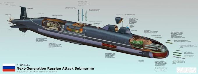 O poderoso submarino de quinta geração da Rússia: conheça a classe Laika