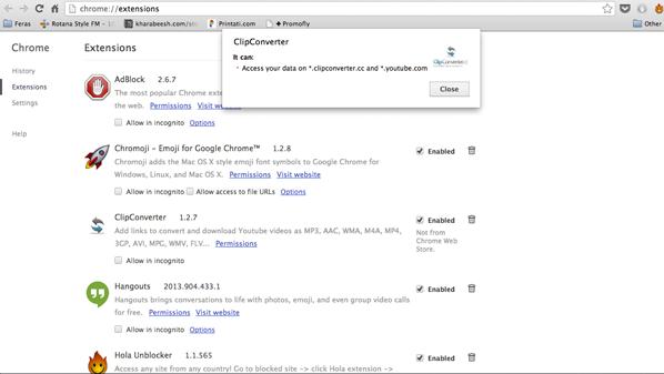 يمكن للمستخدم التأكد من درجة خطورة أي إضافة تم تثبيتها على جوجل كروم من خلال الضغط على قائمة النوافذ