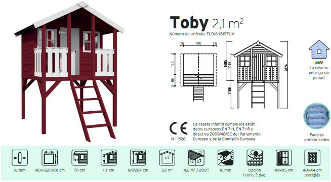 Casas de madera prefabricadas planos casitas de madera for Casas madera ninos jardin
