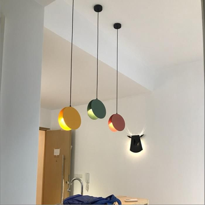 3 Işıklar çok Renkli Mutfak Led Ampul Işık Aydınlatması Led Ampul