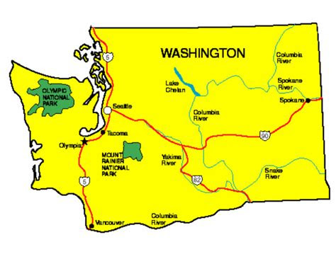 washington facts symbols famous people tourist attractions